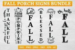 Fall Porch Sign SVG Bundle Product Image 1