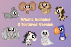 Baby Zoo Animal Bundle Emotions Cute Clipart  Animal Clipart Product Image 3