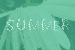 Flowered handwritten summer font in ttf, otf Product Image 3