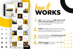 Black and yellow Instagram Puzzle Preset for Canva Product Image 2