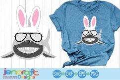 Easter Bunny Shark Svg, Sunglasses svg, eps, dxf, png Product Image 1