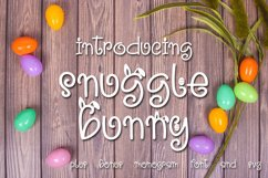 Snuggle Bunny Font Plus Easter Monogram Font and SVG Product Image 1