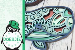 Whale SVG layered 3d multi layer mandala sea animal nautical Product Image 4