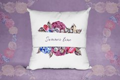 Watercolor roses and gems frames Product Image 4