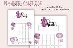 Printable Calendar, Crystal Planner, Undated Calendar - PDF Product Image 1