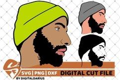 3x Beard Man svg, Hipster beard svg, Mustache svg, Layered Product Image 1