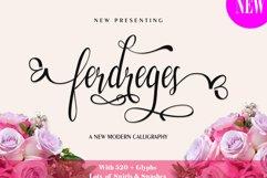 Web Font Ferdreges Script Product Image 3