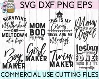 Mom Shirt Bundle of 20 SVG DXF PNG EPS Cutting Files Product Image 3