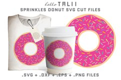 Sprinkles Donut SVG Cut files Product Image 1
