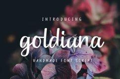 Goldiana - Font Script Product Image 1