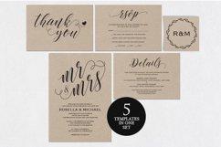 Wedding invitation set landscape, TOS_4 Product Image 1