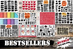 Bestsellers Bundle | Brush Strokes SVG, Snowflakes PNG SVG Product Image 1