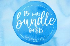 16 fonts bundle - vol.4 Product Image 1