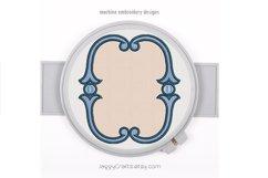 Simple vintage applique oval monogram font frame Product Image 1