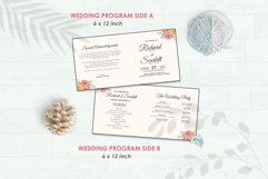 Wedding Invitation Set #3 Watercolor Floral Flower Style Product Image 5