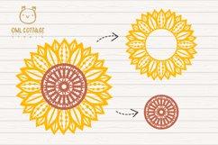 Sunflower Zentangle svg, Sunflower svg, Sunflower Monogram Product Image 4