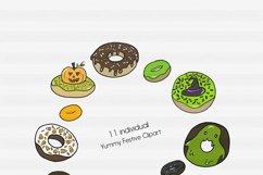Fall Clipart-Halloween Clipart-Bat Clipart-Donut Clipart-Ghoul Clipart-Clipart-Digital Clipart-Halloween-Pumpkin-Halloween Donuts-Frosting Product Image 2