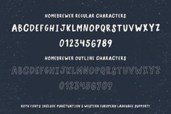 Homebrewer Sans and Outline Font Duo Product Image 3