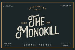 The Monokill - 3 Font With Extras Product Image 1