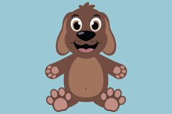 Cute Dog SVG Cut Files, PNG dog clipart, happy puppy face Product Image 2