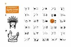 Web Font Thanksgiving Party Dingbat Font Product Image 5