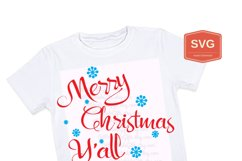 Merry Christmas Y'all Xmas printing files PNG Product Image 5