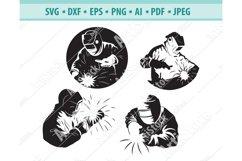 Welder SVG, Welding mask Svg, Electric welding Dxf, Eps, Png Product Image 1