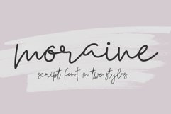 Moraine Script Font in Two Styles Product Image 1
