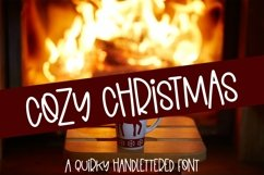 Web Font Cozy Christmas - A Quirky Hand-Lettered Font Product Image 1