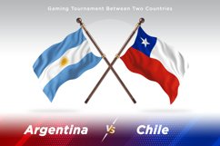 Argentina vs Chile Two Flags Product Image 1