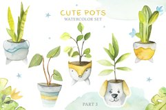 Cute Pots Watercolor Set Product Image 4