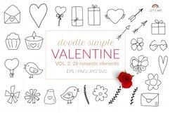 Doodle Valentines symbols svg hearts svg, arrows svg Product Image 1