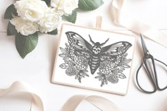 Skull Moth papercutting sublimation graphic illustration Product Image 1
