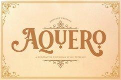 Aquero - Victorian Decorative Font Product Image 1