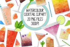 Watercolor Cocktails Clip Art Set 2 Product Image 1