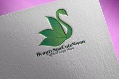 Beauty Spa Cute Swan Logo Product Image 1