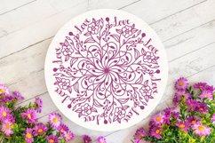 Floral Love Mandala SVG - Floral Mandala Product Image 3