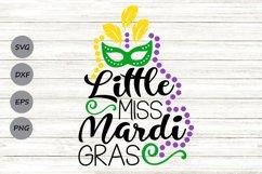 Little Miss Mardi Gras Svg, Mardi Gras Svg, Fat Tuesday Svg. Product Image 1