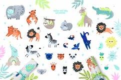 Nursery Art Jungle Animals Illustrations Patters & More Bund Product Image 7