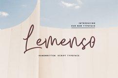 Lemenso - Handwritten Script Typeface Product Image 1