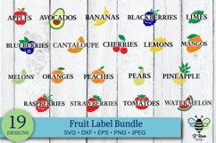 Fruit Label SVG Bundle   Garden Label SVG Bundle Product Image 1