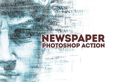 Newspaper Text Photoshop Action Product Image 1