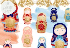 Russian Matryoshka Doll Clipart Product Image 5