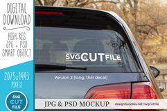 Car decal mockup, vinyl decal mock up, car sticker psd file Product Image 2