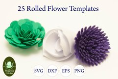 25 Rolled flowers svg, cutfiles, paper craft templates Product Image 4