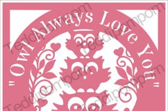 Owl Always Love You - Owl papercut SVG PNG Product Image 1