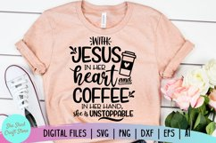 Coffee and Jesus SVG - Coffee SVG - Southern Saying SVG Product Image 1