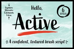 Active Font Family Product Image 1