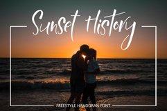 Sunset History-freestyle font Product Image 1