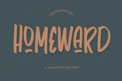 Web Font Homeward - Handwritten Font Product Image 1